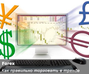 Торговля на трендах в системе форекс