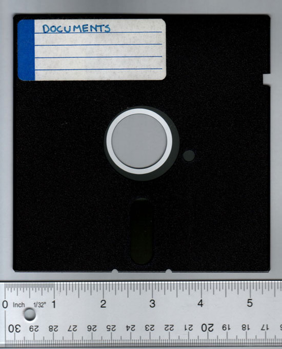 The 5 1/4 inch floppy disk was once the mainstay of compterdom